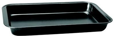 Assadeira  Retangular Rasa 24x35cm aço Carbonizado