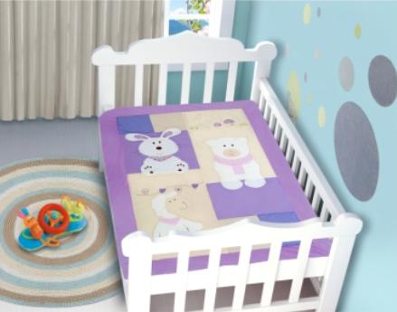 Edredom Bebê 1,16m x 0,87m Ovelha
