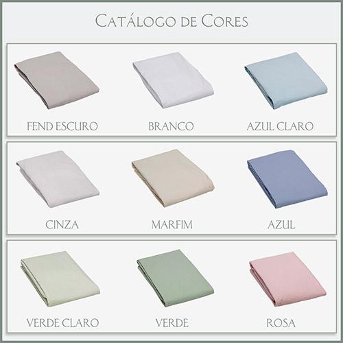 LENÇOL AVULSO COM ELASTICO SOLTEIRO180 FIOS