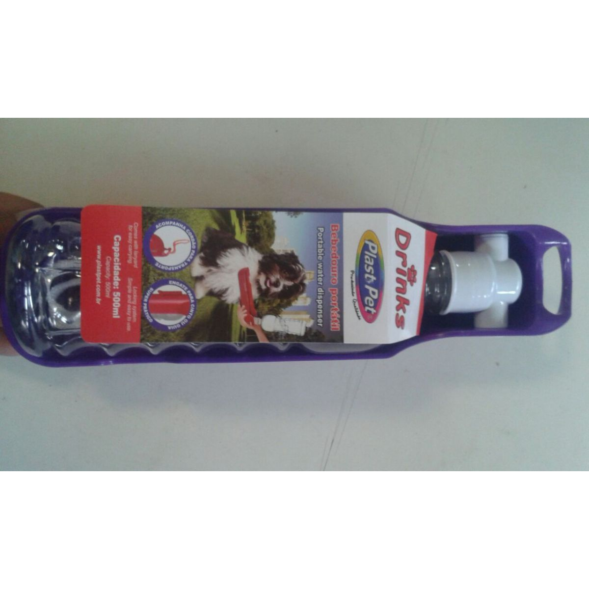 BEBEDOURO PORTATIL  P/ CAES 300ML