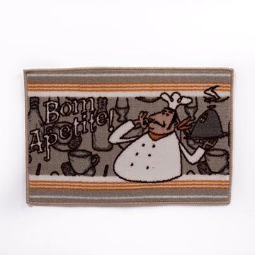 Kit de Tapetes de cozinha 3 peças Antiderrapante Bom apetite