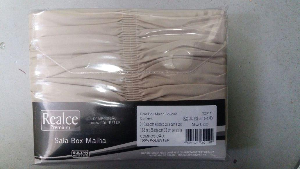 Saia Box Malha Gel Solteiro