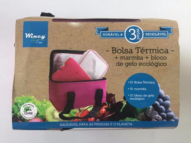 BOLSA TÉRMICA + MARMITA + BLOCO DE GELO ECOLÓGICO