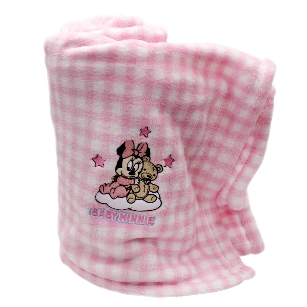 Manta baby Bordada Infantil Jolitex - Disney - Rosa