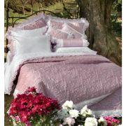 Cobre Leito King Size 2,70m x 3,10m Galles Percal 400 Fios Rosa