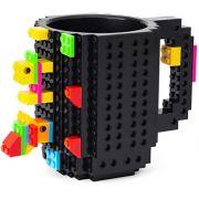 Caneca Bloquinhos tipo Lego de Montar Infantil com Peças