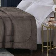 Cobertor Alaska King  Arquimedes  Taupe Home Design