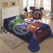 Cobertor Solteiro 1,50x2 m Raschel  Avengers Vingadores Marvel