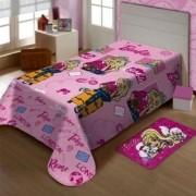 Manta Solteiro Soft Mattel Barbie Viagens Jolitex