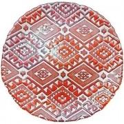 Prato  de Mesa  Milas  Vermelho e Laranja 33 cm