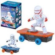 Robô Radical Star Skat faz Manobras Radicais Gira 360 Graus com Luz e Som Brinquedo