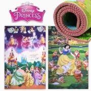 Tapete infantil  Impermeavel Enrolado Dupla Face Princesas x Branca de Neve 1,80x1,20