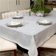 Toalha De Mesa Quadrada Hibisco Branco 140x140 Impermeavel