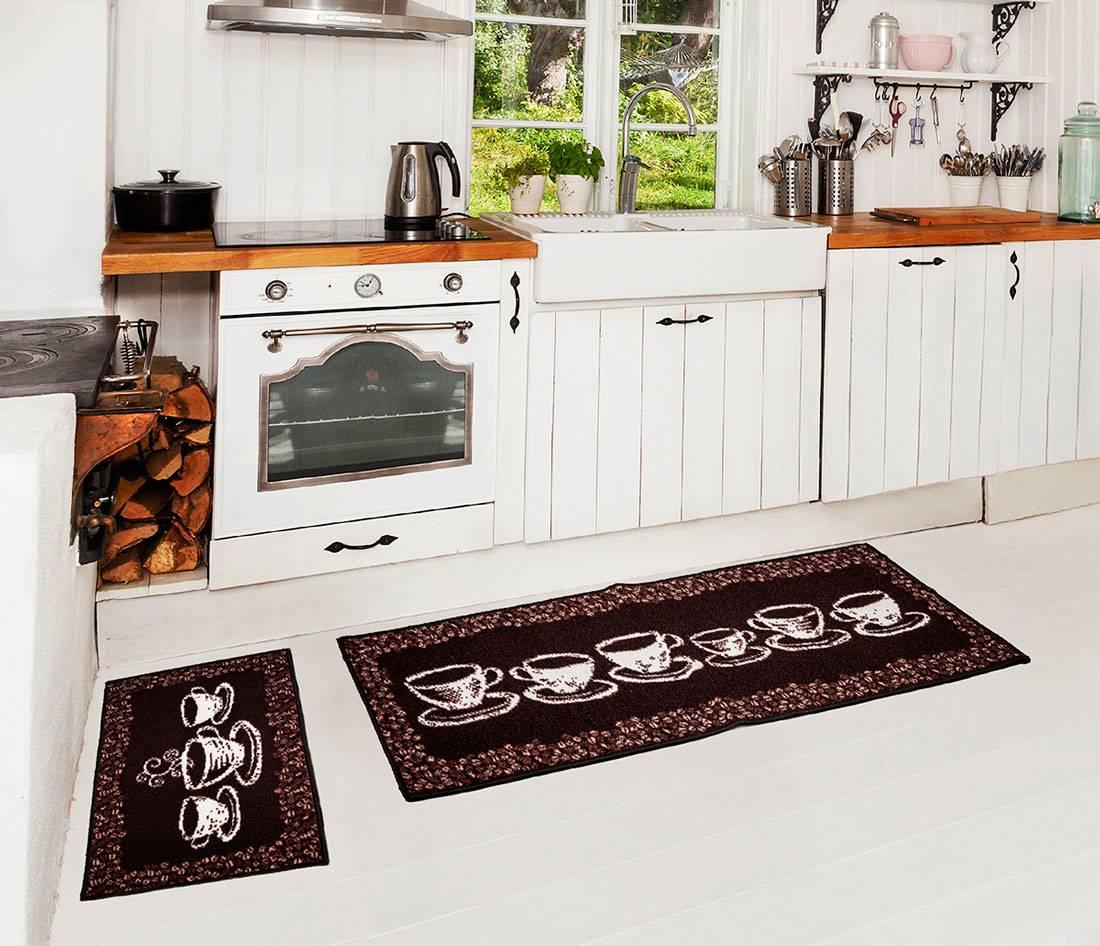 Kit de tapetes para cozinha 3 pçs