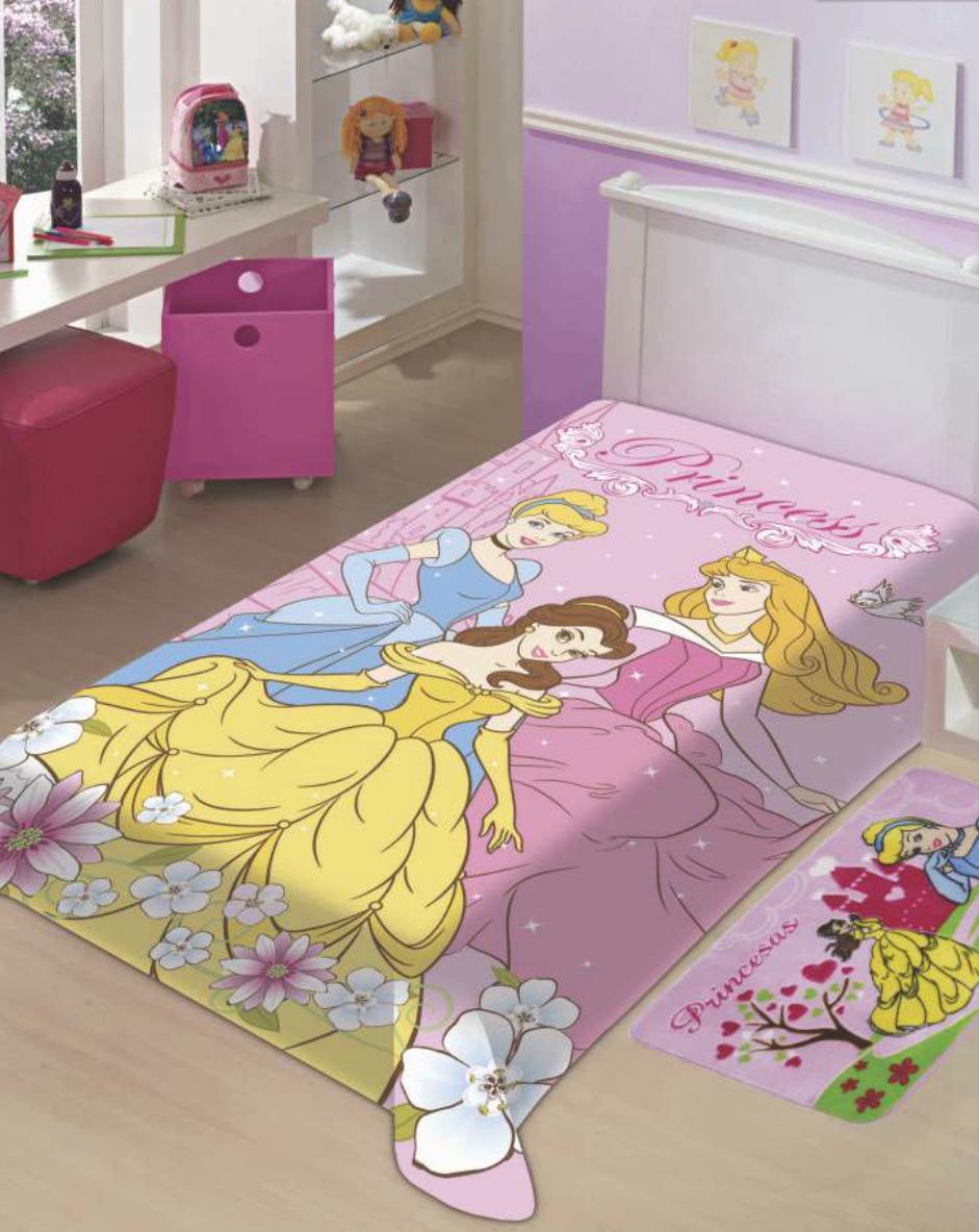 Cobertor Juvenil 1,50m x 2,00m Princesas Disney - Jolitex