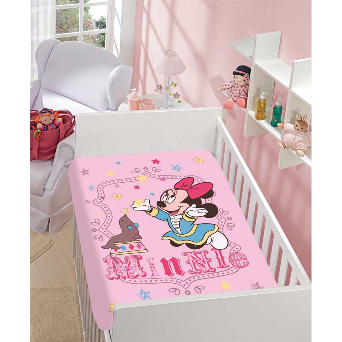 Manta Microfibra Infantil 0,80m x 1,10m Minnie e Foquinha Disney