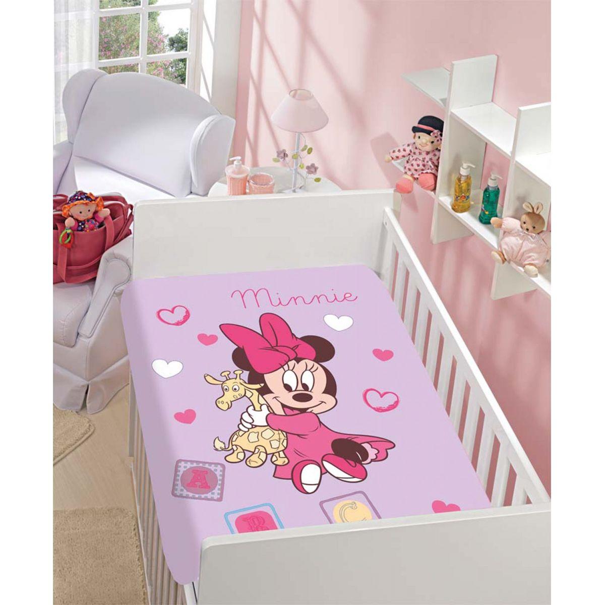 Manta Microfibra Infantil 80cm x 1,10m Minnie e Girafinha Disney
