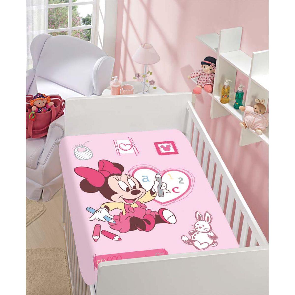 Manta Microfibra Infantil 0,80m x 1,10m Minnie Desenhando Disney