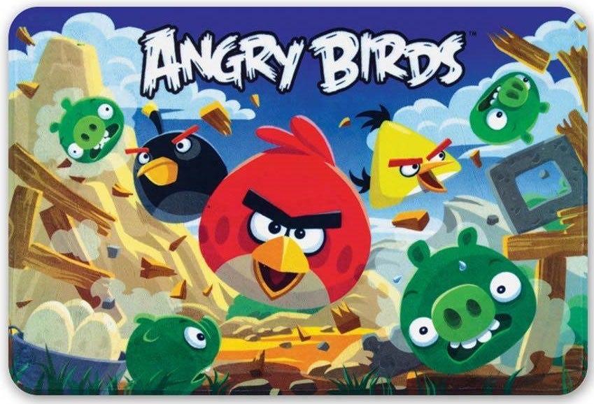 Tapete Transfer 50cm x 75cm Angry Birds Ação