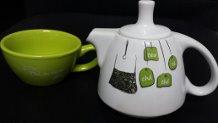 Chaleira com Xicara em Ceramica