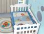Edredom Bebê 1,16m x 0,87m Leão