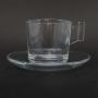 Conjunto de 6 Xícaras de Vidro 90 ml com Pires