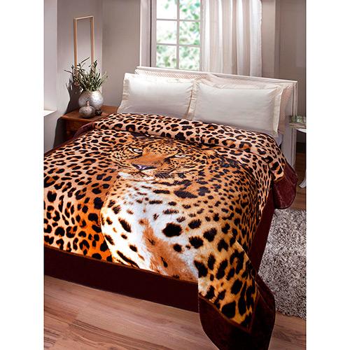 Cobertor Microfibra Casal Kyor Plus Leopardo Jolitex