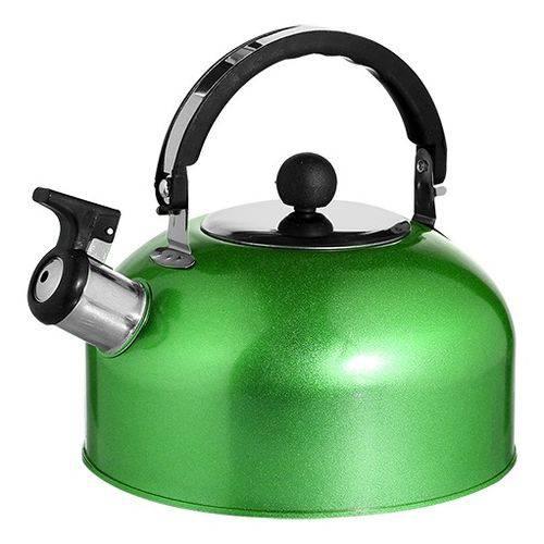 Chaleira Em Aço Inox Com Apito E Alça Térmica 2,5 Litros