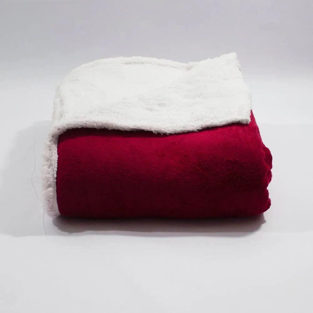 Cobertor Casal Microfibra com Efeito Pele de Carneiro - Denver
