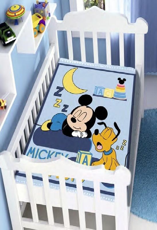 Cobertor De Bebê Raschel Mickey  Jolitex
