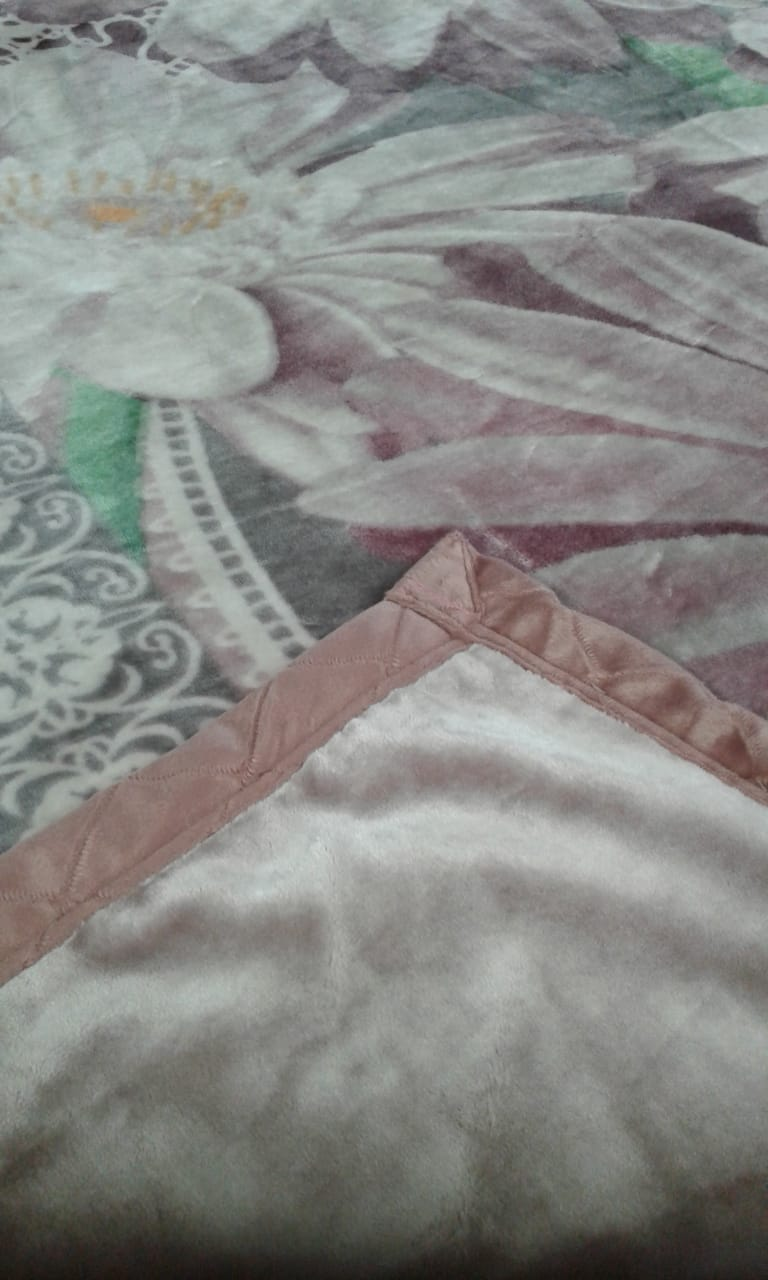 Cobertor King Jolitex Raschel Double Action Dolina  - Rose
