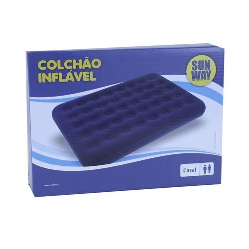 Colchão Inflavél Casal  Pvc 1.91x1.37x22cm