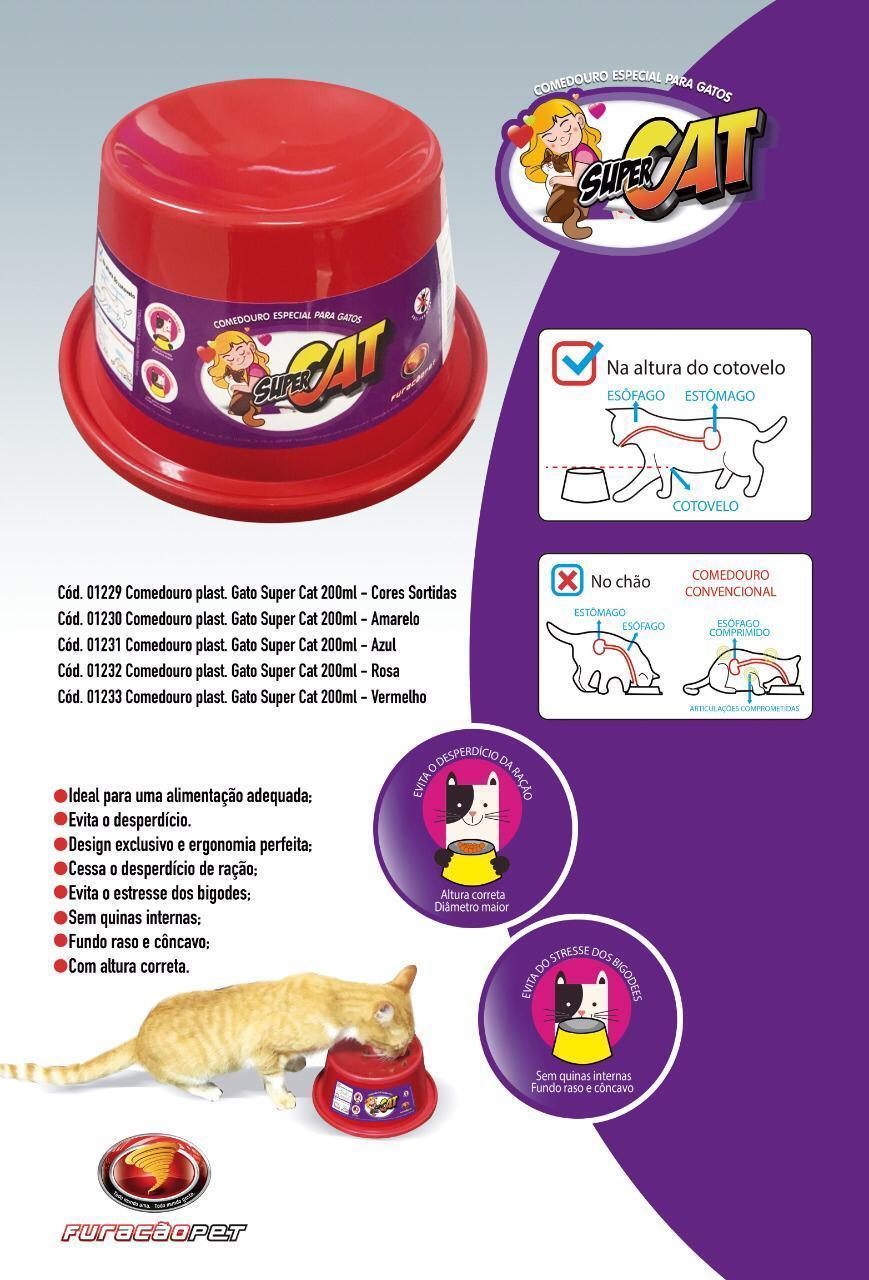 Comedouro Ergonometro Super Cat para Gatos 200ml