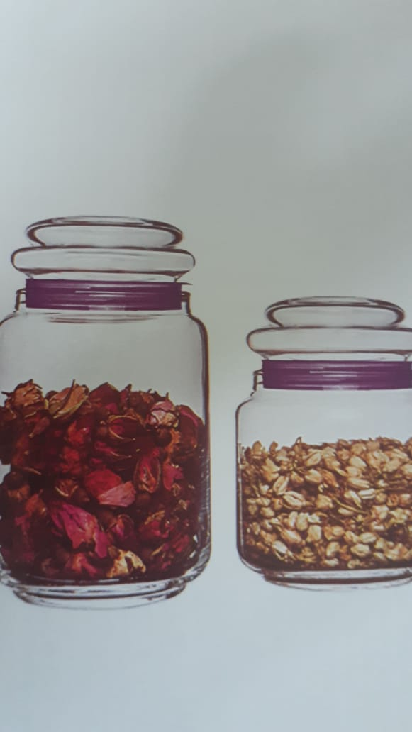 Conjunto de 3 Potes de Vidro Multiuso