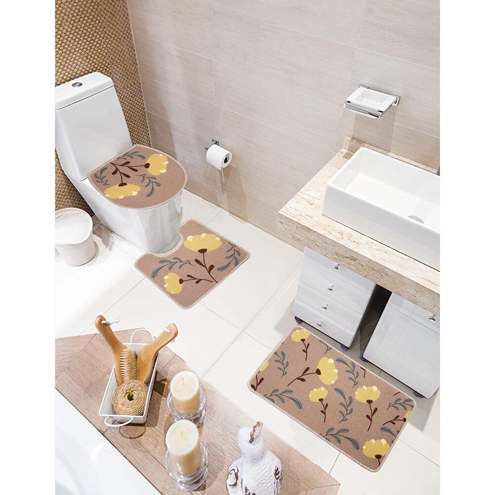 Conjunto de Tapetes para Banheiro Jolitex Requinte  3 Peças