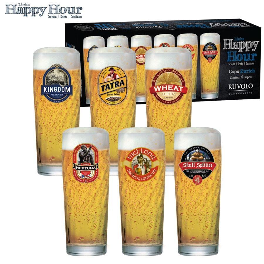 Copo Zurich M Happy Hour (kit 6 Pçs)