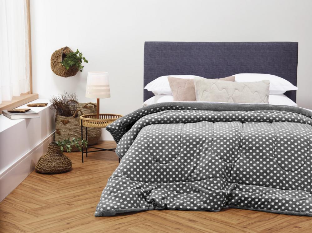 Edredom Dupla Face Queen Blend Confort Duo  Maxi Poá 230x220