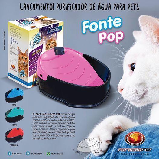 Fonte Furacão Pet Pop  para Cães e Gatos 110 V