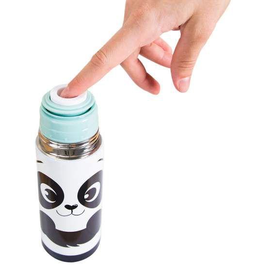 Garrafa Térmica 350 ml com Caneca Panda
