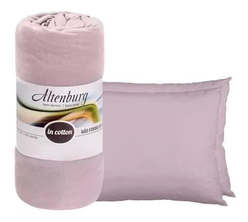 Jogo de Cama Casal 3 peças  Malha In Cotton 100% algodão