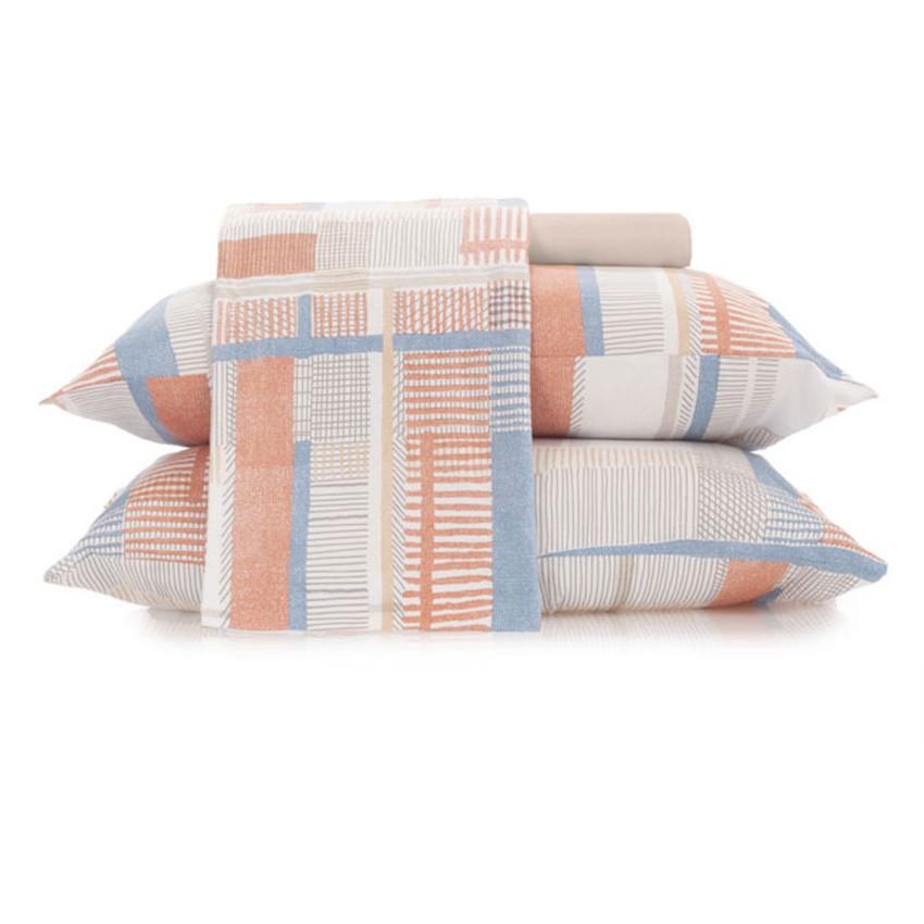 Jogo de Cama King Malha In Cotton 100% algodão Glitch