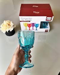 Jogo de Taca de Vidro Cascais Colors com 6 pecas 250ml