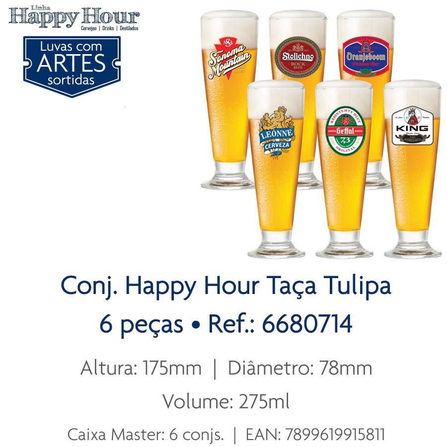 Jogo de Taças de Cerveja Tulipa de 300ml