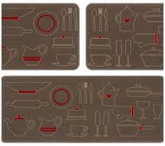 Jogo De Tapete De Cozinha Menu Bule 3 Peças