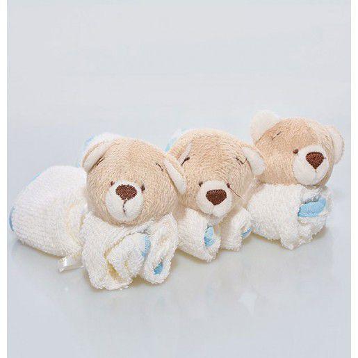 Kit 3 Toalhinhas de boca - Zip Toys Urso Nino