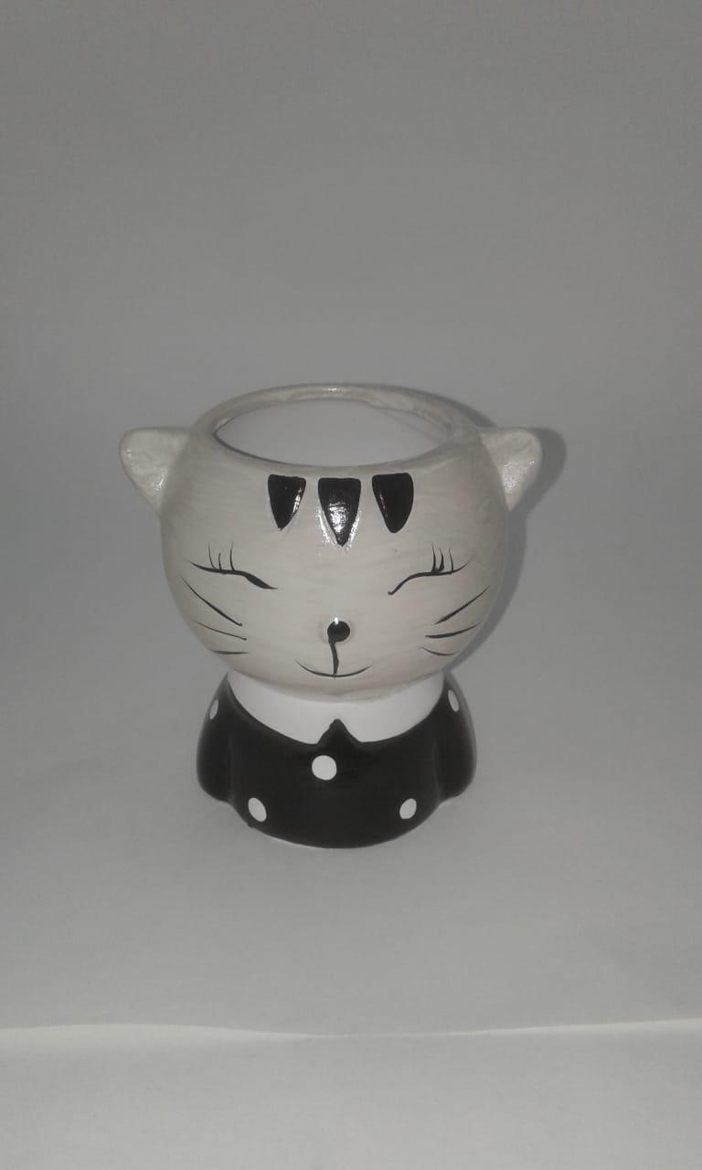 Kit 4 Vasos Decorativos Cachepot Bichinhos Cerâmica