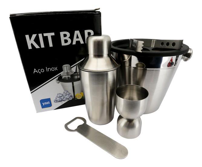 Kit Bar Inox Com 5 Peças