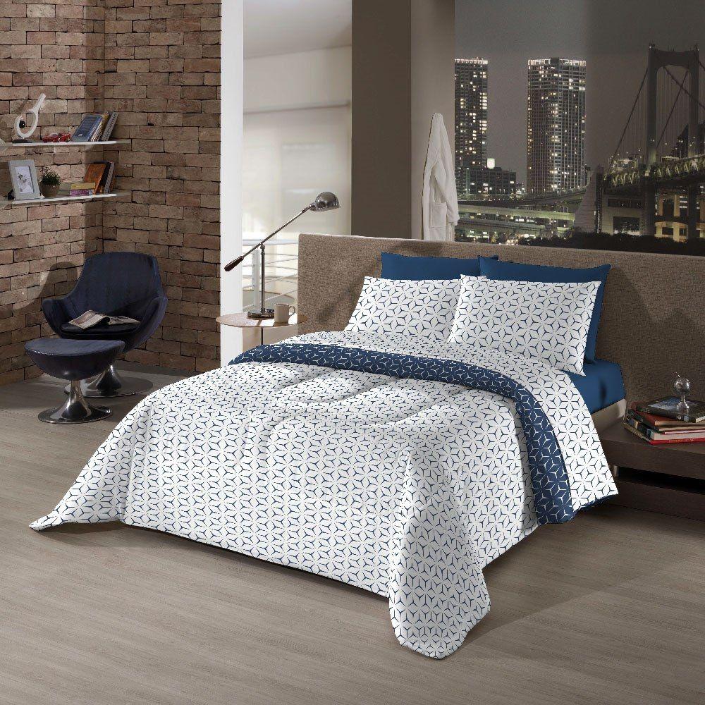 Kit Cama Solteiro 5 Peças Bed In A Bag Navigli