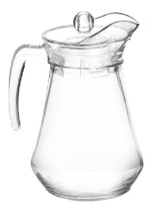 Kit Conjunto De Jarra De Suco Água 1,5 L Com 6 Copos De Vidro 280 Ml