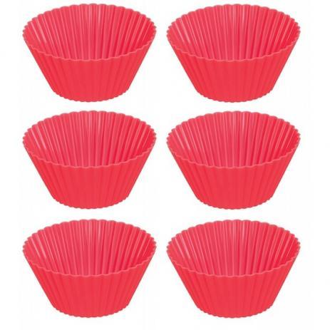 Kit Forma de Silicone para Cupcake 6 Unidades
